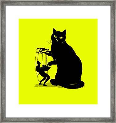 Cat Ownership Dynamics Framed Print by Smetek