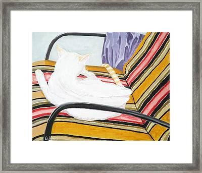 Cat Painting Framed Print