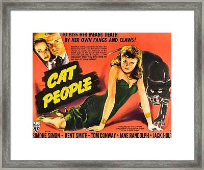 Cat People Framed Print