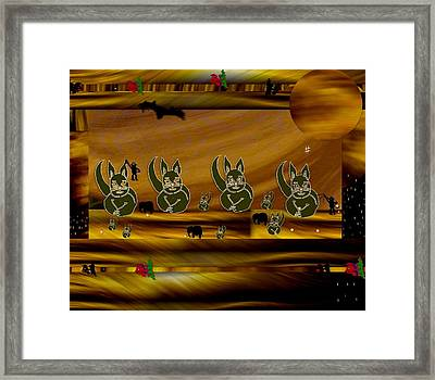 Cat Planet In The Temple Of Hot Pop Art Framed Print