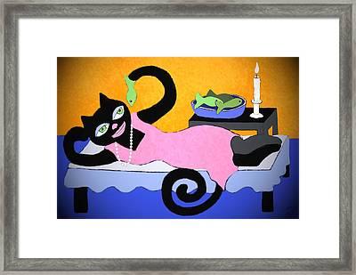 Cat Princess Framed Print