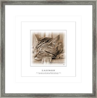 Cat Reflections 2 Framed Print