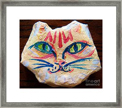 Cat Rock Framed Print by Judy Via-Wolff