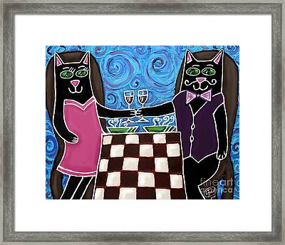 Cat Romance Framed Print