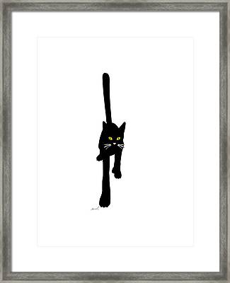 Cat Stepping Forward Framed Print by The Art of Marsha Charlebois