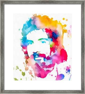 Cat Stevens Watercolor Portrait Framed Print by Dan Sproul