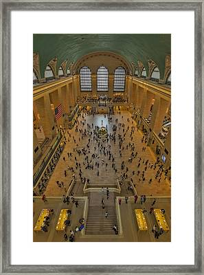 Cat Walk At Grand Central Terminal Framed Print by Susan Candelario