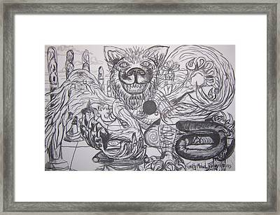 Cat Wings Framed Print by Timothy  Foley