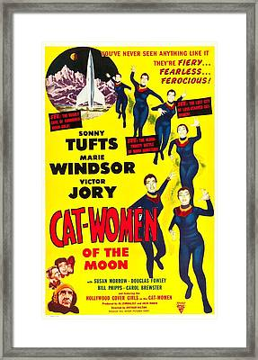 Cat-women Of The Moon, Us Poster, 1953 Framed Print by Everett