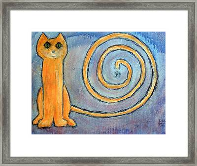 Cat World Framed Print by Kenny Henson