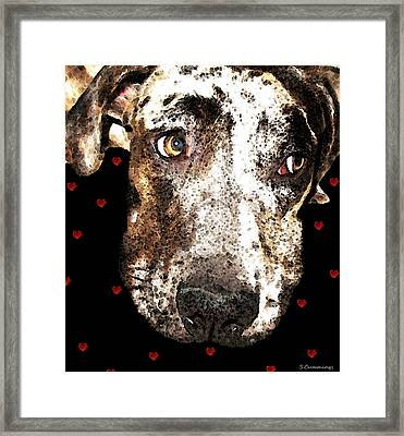 Catahoula Leopard Dog - Lover Framed Print by Sharon Cummings