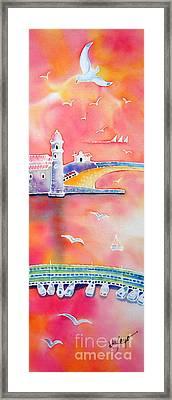 Catalan Sunset Framed Print