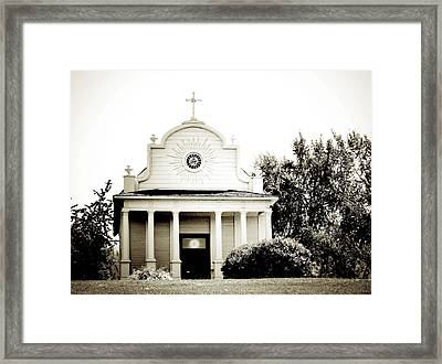 Cataldo Mission Framed Print by Terry Eve Tanner