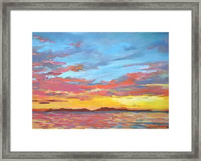 Catalina Aglow Framed Print