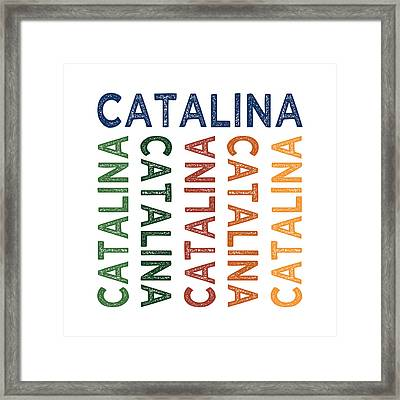 Catalina Cute Colorful Framed Print by Flo Karp