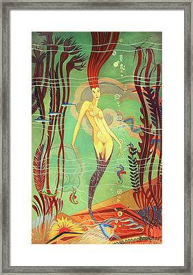 Catalina Island Mermaid  Framed Print
