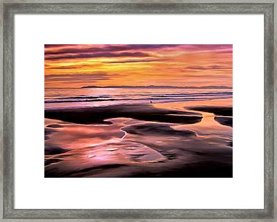 Catalina Sunset Framed Print by Michael Pickett