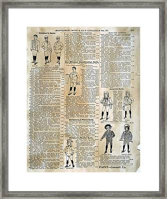Catalogue Page, 1895 Framed Print by Granger