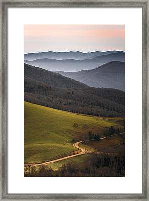 Cataloochee Valley Sunrise Framed Print