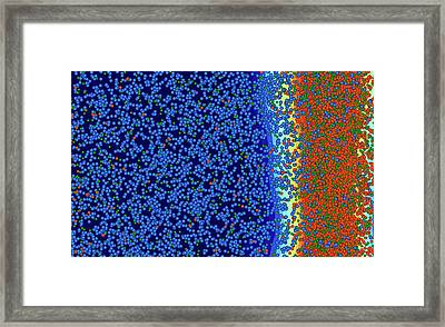 Catalyst Nanoparticle Framed Print by Ammrf, University Of Sydney
