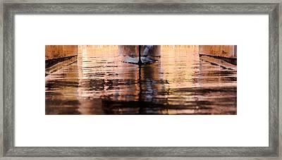 Catamaran Abstract Framed Print by Karen Wiles