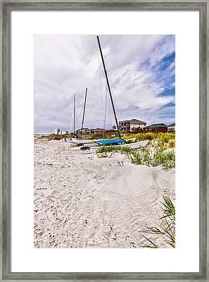 Framed Print featuring the photograph Catamaran by Sennie Pierson