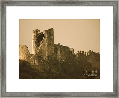 Catapult At Lastours  Framed Print