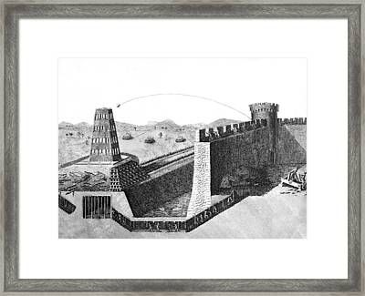 Catapult Framed Print by Underwood Archives