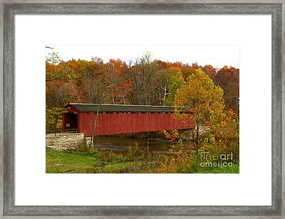 Framed Print featuring the photograph Cataract Bridge by Jim McCain