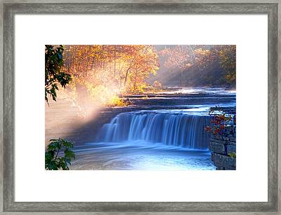 Cataract Falls Indiana Framed Print by Randall Branham