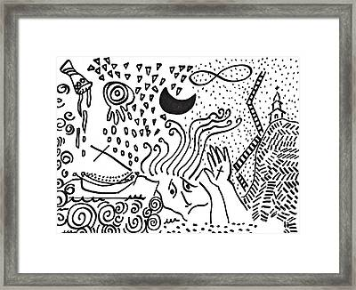 Catastrophe Framed Print by Sarah Loft