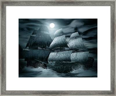 Catastrophic Collision  Framed Print by Lourry Legarde