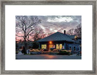 Cataumet Post Office Dressed For The Holidays Framed Print