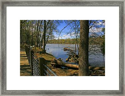 Framed Print featuring the photograph Catawba River Walk by Andy Lawless