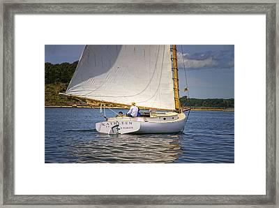 Catboat Kathleen Framed Print