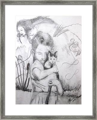 Catboy And Batboy Framed Print