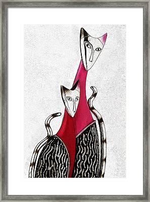 Catcat Framed Print