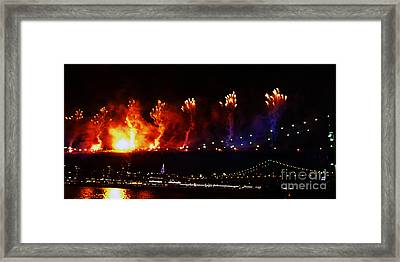 Catch A Fire Framed Print