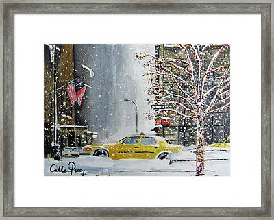 Catch A Snow Cab Framed Print