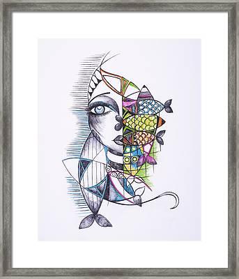 Catch Framed Print by Chibuzor Ejims