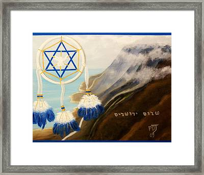 Catch God's Dream-peace Jerusalem Framed Print by Pamorama Jones