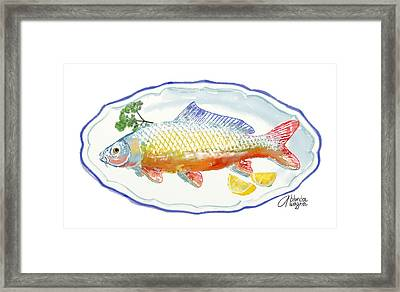 Framed Print featuring the digital art Catch Of The Day by Arline Wagner