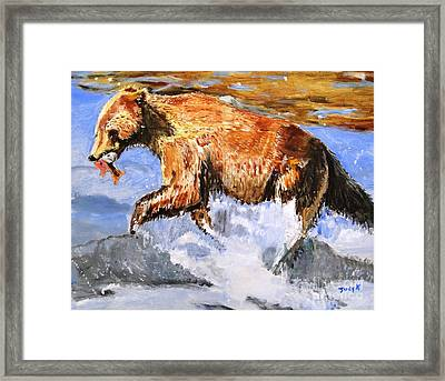Framed Print featuring the painting Catch Of The Day by Judy Kay