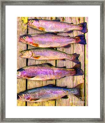Catch Of The Day - Painterly - V1 Framed Print by Wingsdomain Art and Photography