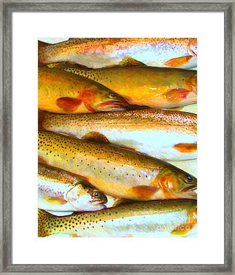 Catch Of The Day - Painterly - V2 Framed Print by Wingsdomain Art and Photography