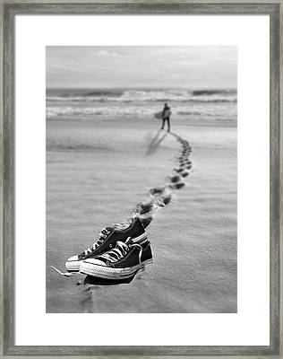 Catch Some Waves Framed Print