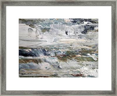 Catch The Spray Framed Print by Nancy Kane Chapman