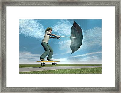 Catch The Wind Framed Print by Carol & Mike Werner
