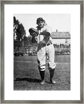 Catcher Charlie Schmidt Framed Print by Underwood Archives