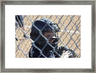 Catcher Framed Print by Chris Thomas